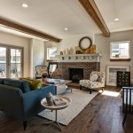 How to Clean Engineered Hardwood Floors for Traditional Living Room with Blue Couch