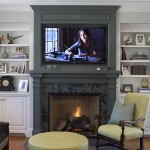 How to Decorate a Fireplace Mantel for Traditional Family Room with Tv Above Fireplace