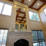 How to Decorate a Fireplace Mantel for Traditional Living Room with Baseboard