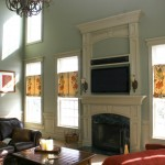 How to Decorate a Fireplace Mantel for Traditional Living Room with Coffered Ceilings