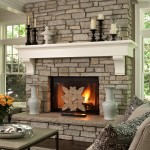 How to Decorate a Fireplace Mantel for Traditional Living Room with Pillows