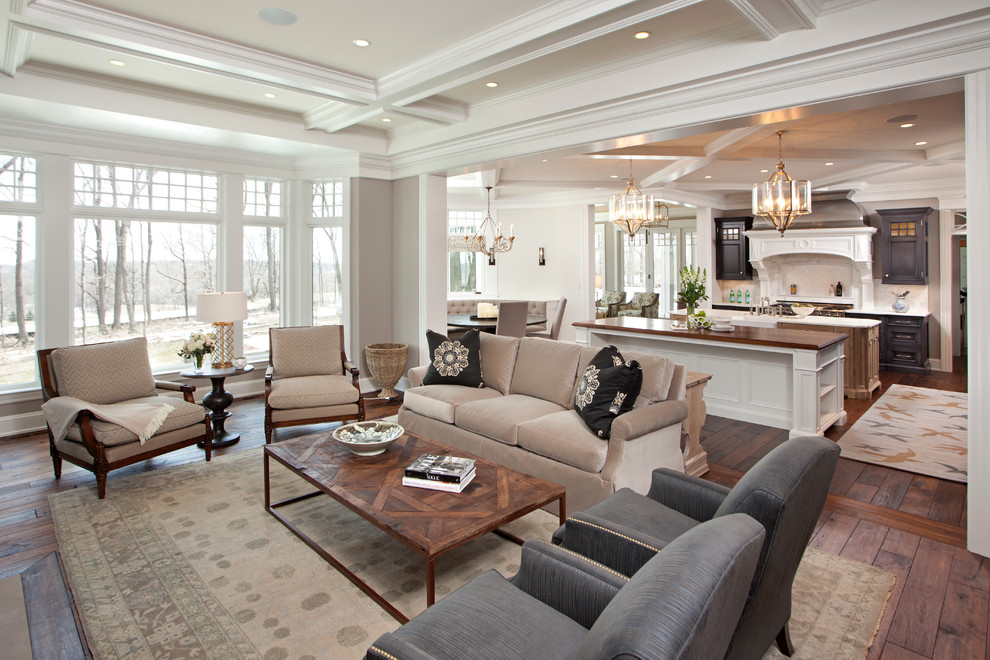 How to Get Rid of Popcorn Ceiling for Traditional Living Room with Lanterns
