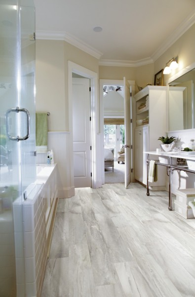 How to Install Vinyl Plank Flooring for Contemporary Bathroom with Contemporary