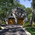 How to Lay Pavers for Traditional Exterior with Wood Garage Door