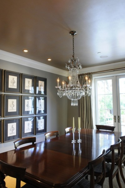 How to Paint a Popcorn Ceiling for Traditional Dining Room with Gallery Wall