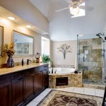 How to Remove a Popcorn Ceiling for Traditional Bathroom with Bathroom Remodel