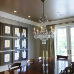 How to Remove a Popcorn Ceiling for Traditional Dining Room with Wall Art