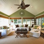 How to Remove a Popcorn Ceiling for Traditional Sunroom with Green Wall