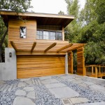 How to Restain Wood for Contemporary Exterior with Concrete Wall
