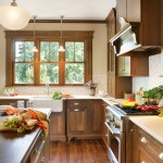 How to Restain Wood for Craftsman Kitchen with Light Counter
