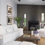 How to Restain Wood for Modern Living Room with White