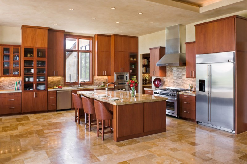 How to Sand Drywall for Contemporary Kitchen with Kitchen Island