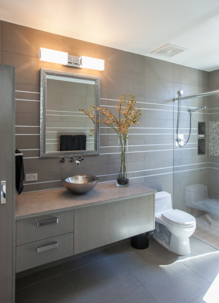 How to Unclog a Drain for Contemporary Bathroom with Silver Mirror Frame