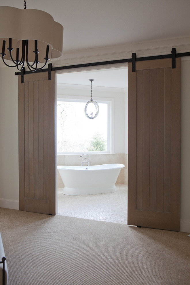 How to Unlock a Bedroom Door for Traditional Bedroom with Ceiling Light