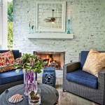 How to Whitewash Brick for Contemporary Patio with Whitewashed Brick Fireplace