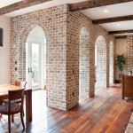 How to Whitewash Brick for Traditional Living Room with Brick Arch