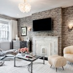 Howell Furniture for Contemporary Living Room with Mirrored Furniture