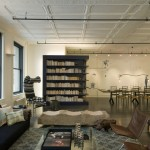 Howell Furniture for Industrial Living Room with Leather Chairs