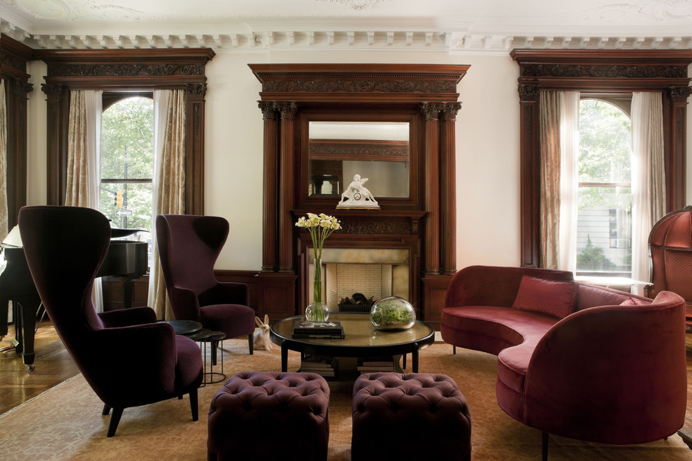 Howell Furniture for Traditional Living Room with Fireplace