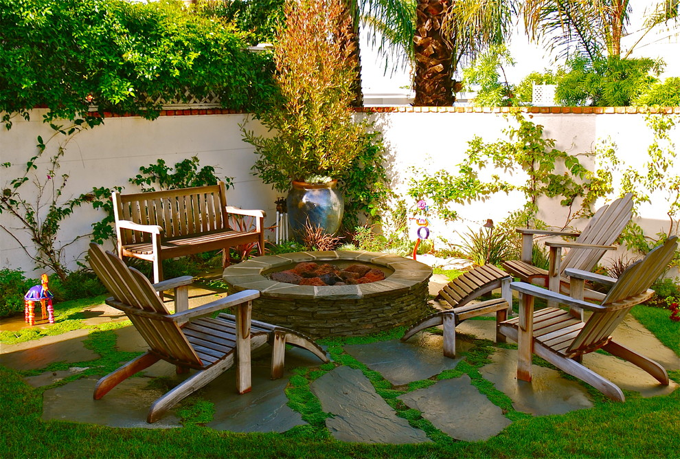Huntington Beach Fire Pits for Beach Style Patio with Patio Furniture