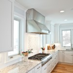 Hyde Park Lumber for Transitional Kitchen with White Painted Cabinets