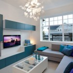 Ikea Besta for Contemporary Family Room with Floating Cabinets