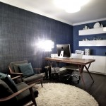 Ikea Besta for Contemporary Home Office with Modern Rug
