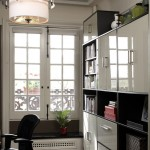 Ikea Besta for Contemporary Home Office with White Wood