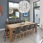 Ikea Bjursta Table for Contemporary Dining Room with Eames Chairs
