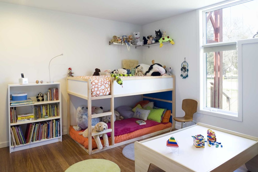Ikea Brimnes Bed for Modern Kids with Throw Pillows