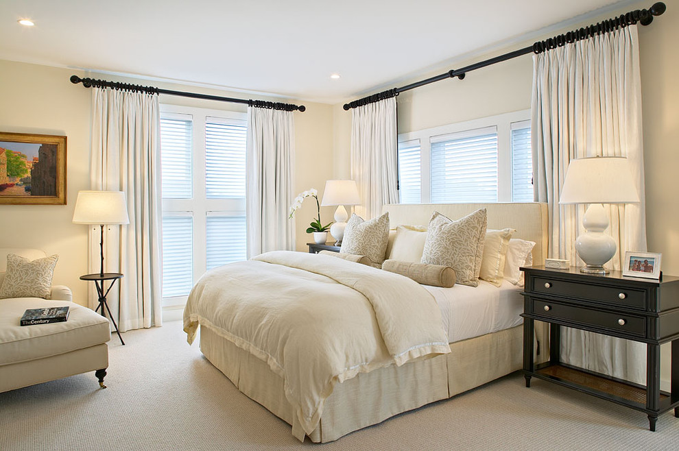 Ikea Curtain Rods for Beach Style Bedroom with Ceiling Lighting