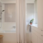 Ikea Curtain Rods for Contemporary Bathroom with Thassos