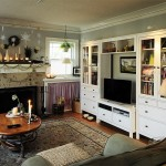 Ikea Hemnes for Eclectic Living Room with Seasonal Decorations