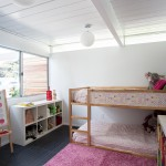 Ikea Kura Bed for Midcentury Kids with Single Family Home
