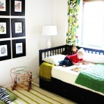Ikea Malm Bed Frame for Eclectic Kids with Wall Art
