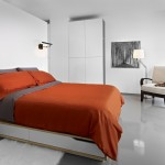 Ikea Malm Bed Frame for Modern Bedroom with Red Bedding