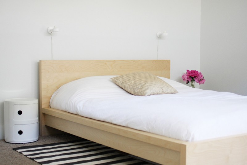 Ikea Malm Bed Frame for Scandinavian Bedroom with Platform Bed