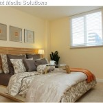 Ikea Mandal for Contemporary Bedroom with Orange Accents