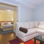 Ikea Mandal for Modern Basement with Guest Bedroom
