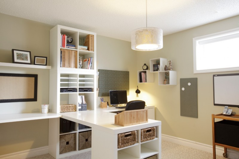 Ikea New Orleans for Traditional Home Office with Built in Bookcase