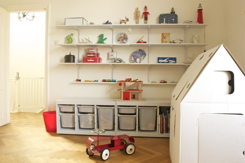 Ikea Trofast for Traditional Kids with Shelves