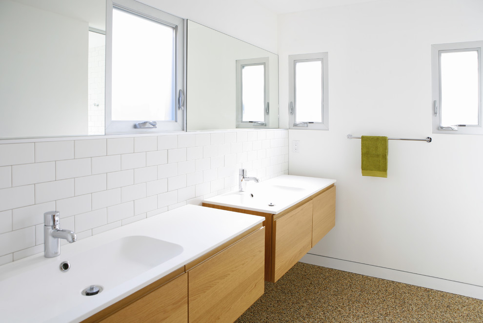 Ikea Twin Cities for Modern Bathroom with White Wall