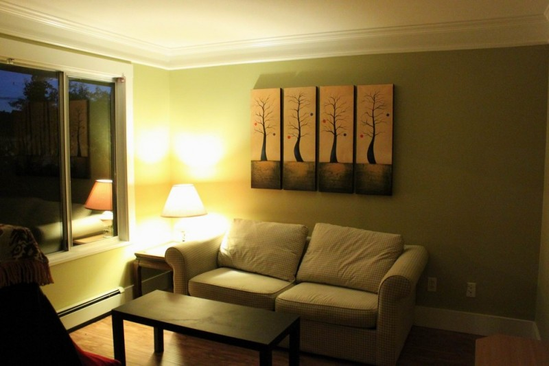 Impasto Painting for Modern Living Room with Home Decor