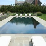 Infinity Edge Pool for Beach Style Pool with Lawn