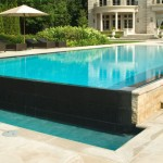 Infinity Edge Pool for Contemporary Pool with Infinity Pool
