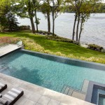 Infinity Edge Pool for Modern Pool with Rectangular Swimming Pool