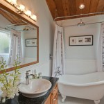 Installing a Bathtub for Transitional Bathroom with Granite Counter