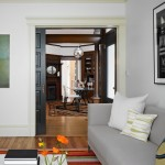 Installing Pocket Doors for Contemporary Family Room with Pocket Door
