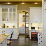 Installing Pocket Doors for Traditional Kitchen with Beige Wall