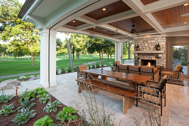 Interlachen Country Club for Traditional Porch with Outdoor Living